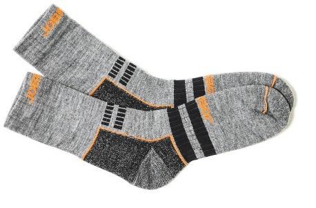 Jobman 9591 Wollen Sokken - grijs/zwart