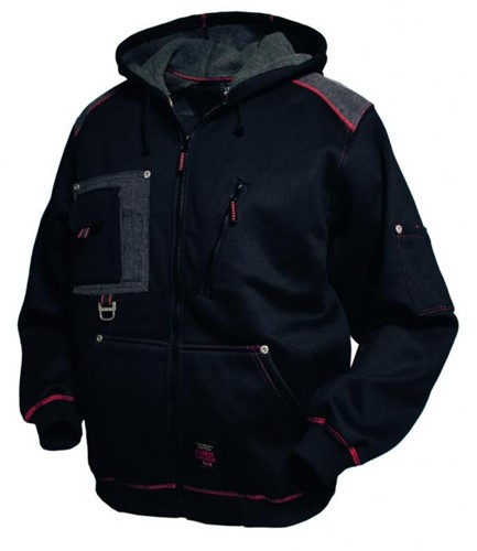 Tranemo Hooded jack 660600-Zwart-XS