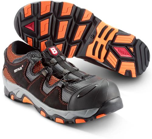 Brynje Schoen Cool 663 S1P - Zwart/Oranje