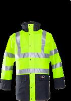 Sioen Marianis Signalisatie Winterregenparka Met Uitneembare Bodywarmer-S-Fluo Geel/Marine-1