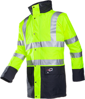 Sioen Marianis Signalisatie Winterregenparka Met Uitneembare Bodywarmer-S-Fluo Geel/Marine