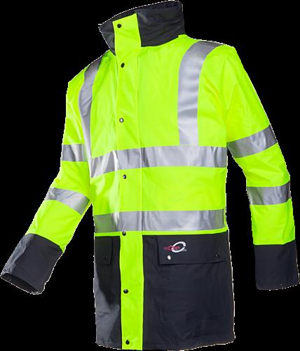 Sioen Marianis Signalisatie Winterregenparka Met Uitneembare Bodywarmer-S-Fluo Geel/Marine-2