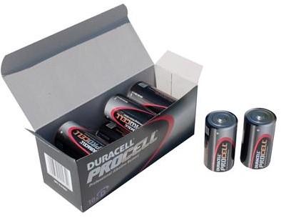 Duracell Industrial batterij/P-10   D-cel/PC1300