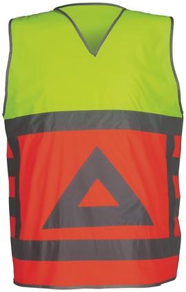 Havep High Visibility Verkeersregelaarsvest-L-Fluo oranje/Fluo geel