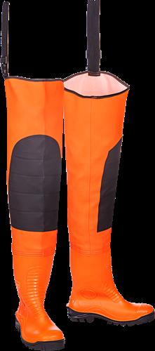 Sioen Roosky Signalisatie Heuplieslaarzen met Veiligheidslaarzen-Fluo Oranje-V39