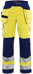 Blaklader 71561811 Dames werkbroek High Vis met spijkerzakken