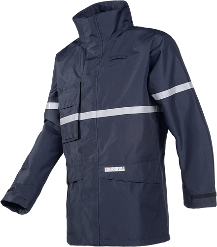 Sioen Glenroy Vlamvertragende en Antistatische Regenparka-XS-Marineblauw