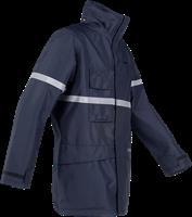 Sioen Glenroy Vlamvertragende en Antistatische Regenparka-XS-Marineblauw-3