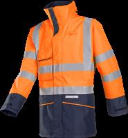 Sioen Hedland Vlamvertragende en Antistatische Signalisatie Regenparka-XS-Fluo Oranje/Marine-2