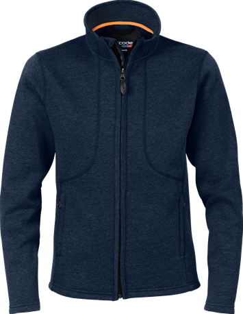 Acode Dames fleece sweatjack-S-Midnight Blue