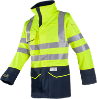 Sioen Riverton Signalisatie Regenparka met ARC bescherming-S-Fluo Geel/Marine-2