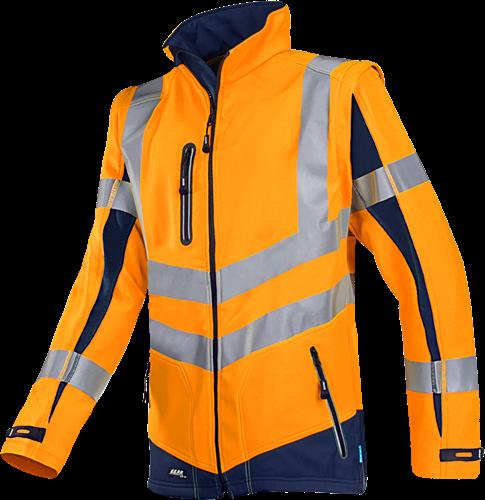 Sioen Malden Signalisatie Softshell met uitritsbare mouwen-XS-Fluo Oranje/Marine