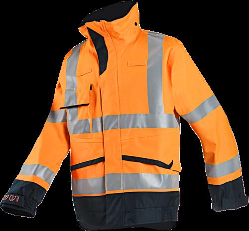 Sioen Talbot Vlamvertragende en Antistatische Signalisatie Regenblouson-S-Fluo Oranje/Marine