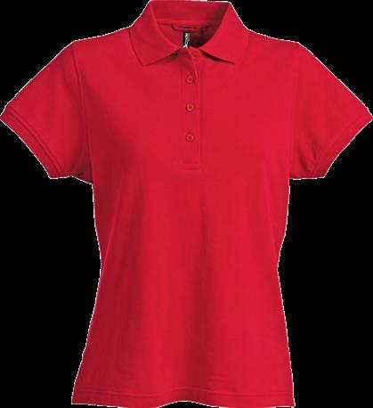 Acode Damespoloshirt, zware kwaliteit-Rood-S