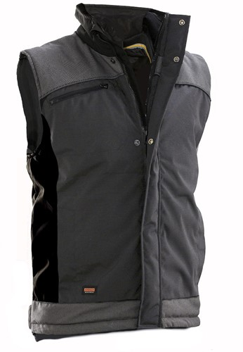 Jobman 7516 Winter Vest-S-Donker Grijs/Zwart