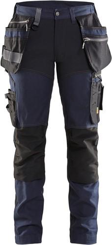 Blaklader 71151343 Dames werkbroek met stretch - Donker Marineblauw/Zwart - C32