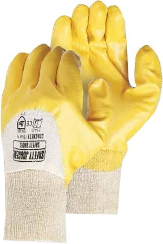 SALE! Safety Jogger 3111 Concrete Handschoenen - Geel - Maat 10