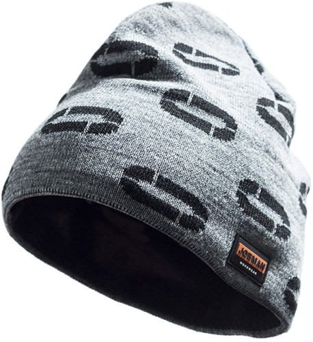 Jobman 8391 Beanie Muts-Grijs/Zwart-1 size