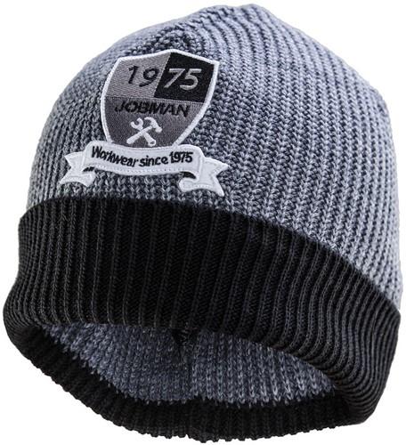 Jobman 8394 Beanie Muts grijs/zwart