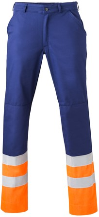 Havep High Visibility Werkbroek-H44-Marineblauw/fluo oranje