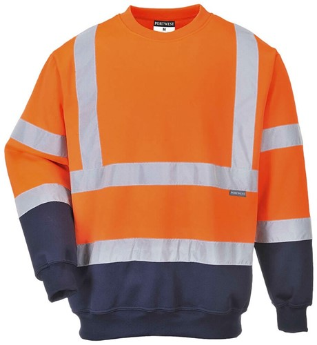 Portwest B306 Hi-Vis 2-Tone Sweatshirt