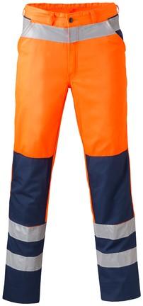 Havep High Visibility Werkbroek-Fluo oranje/marineblauw-H46