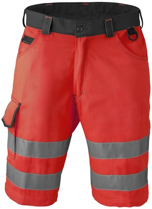 Havep High Visibility Bermuda-H46-Fluo rood/charcoal grey