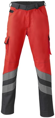 Havep High Visibility Werkbroek-H46-Fluo rood/charcoal grey