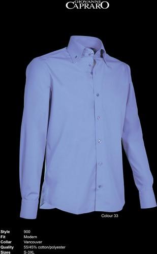 Giovanni Capraro 900-33 Heren Overhemd - Blauw