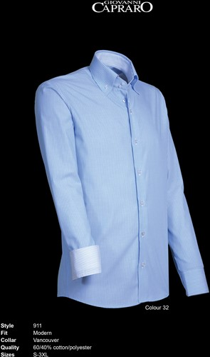 Giovanni Capraro 911-32 Overhemd - Licht Blauw gestreept