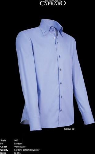 Giovanni Capraro 915-39 Overhemd - Licht Blauw [Navy accent]