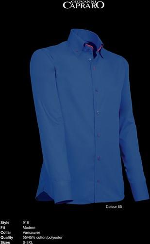 Giovanni Capraro 916-85 Overhemd - Donker Blauw [Rood accent]