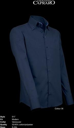 Giovanni Capraro 917-36 Overhemd - Navy [Blauw accent]