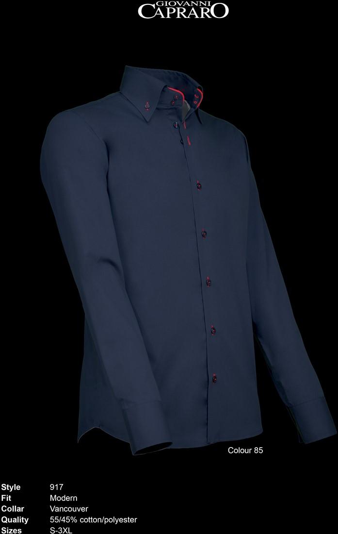 Overhemd Rood Zwart.Giovanni Capraro 917 85 Overhemd Zwart Rood Accent Workwear4all