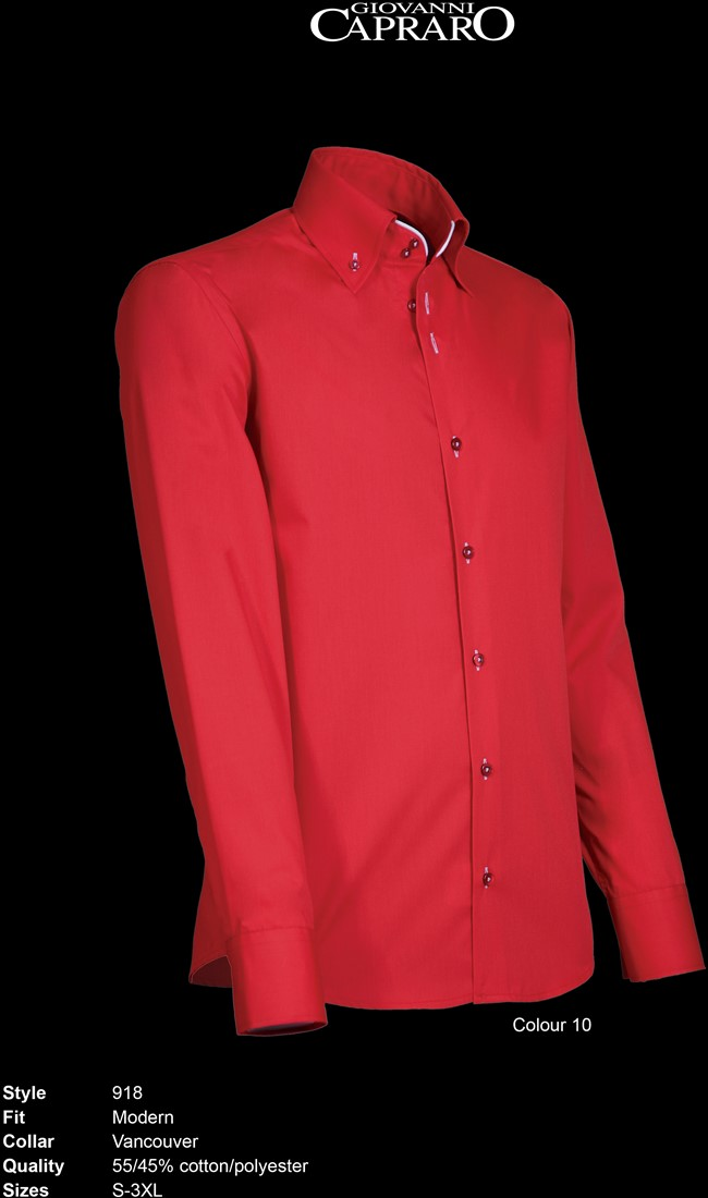 Rood Wit Overhemd.Giovanni Capraro 918 10 Overhemd Rood Wit Accent Workwear4all