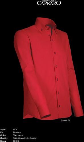 Giovanni Capraro 918-39 Overhemd - Rood [Navy accent]