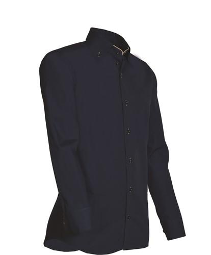 Giovanni Capraro 926-39 Overhemd - Navy [Beige accent]