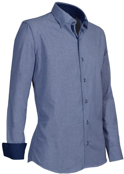 Overhemd Blauw.Giovanni Capraro 934 36 Overhemd Blauw Workwear4all