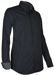 Giovanni Capraro 939-19 Overhemd - Zwart