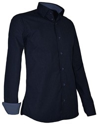 Giovanni Capraro 939-39 Overhemd - Navy [Blauw accent]