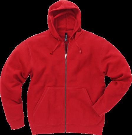 Acode Sweater met capuchon en rits-Rood-XS