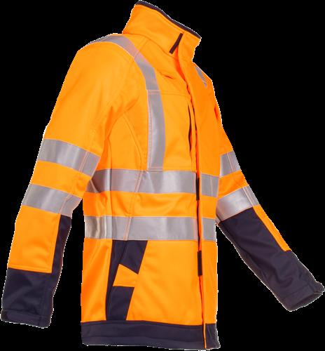 Sioen Playford Signalisatie Softshell met ARC bescherming-XS-Fluo Oranje/Marine-2