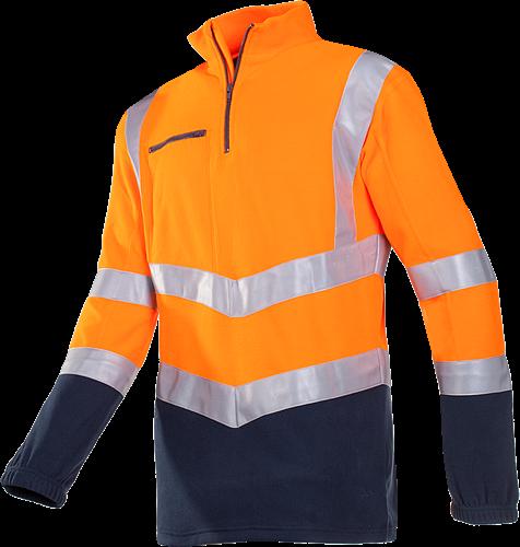 Sioen Monterey Signalisatie Fleece Sweater-S-Fluo Oranje/Marine