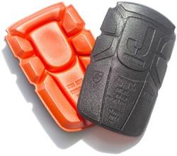 Jobman 9943 Knie bescherming Orange/zwart