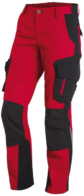 fhb alma werkbroek dames-36-rood-zwart workwear4all