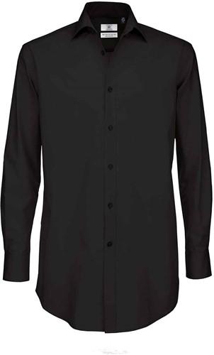 B&C BCSMP21 Black Tie Long Sleeve Heren Overhemd