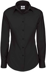 B&C Black Tie LSL Dames Blouse