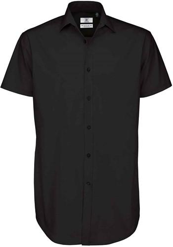 B&C BCSMP22 Black Tie Short Sleeve Heren Overhemd