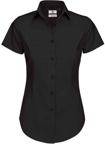 B&C Black Tie SSL Dames Blouse-Zwart-XS