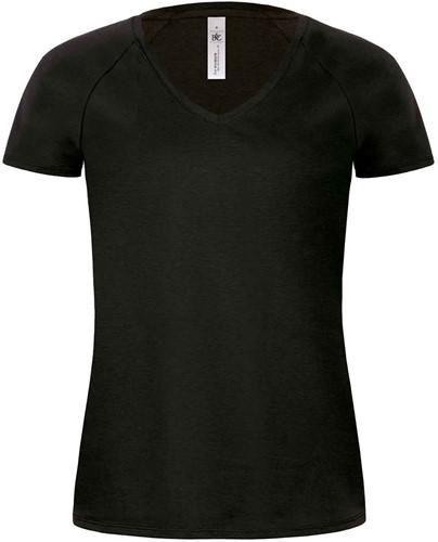 B&C Blondie Classic Dames T-shirt-Zwart-XS